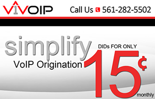 V1 VoIP offers resellers one tier of pricing for VoIP origination >and DIDs